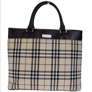 100% AUTHENTIC BURBERRY NOVA CHECK CANVAS TOTE